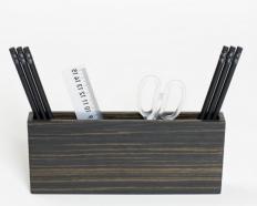 Аксессуары для кабинета Deluxe. Wood Collection деревянные аксессуары для рабочего стола карандашница Эбеновое дерево