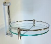 Полки для душа Сетки Полки для ванной стеклянные Полки для полотенец.   Полка стеклянная для ванной круглая