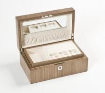 Мебель и Аксессуары для ванной из натурального дерева, Раттана и Бамбука. Wood Collection бокс для украшений деревянный Орех