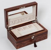 Мебель и Аксессуары для ванной из натурального дерева, Раттана и Бамбука. Wood Collection бокс для украшений деревянный Розовое дерево Сантос
