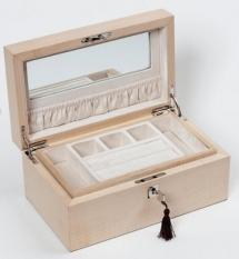 Мебель и Аксессуары для ванной из натурального дерева, Раттана и Бамбука. Wood Collection бокс для украшений деревянный Сикамор