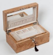 Мебель и Аксессуары для ванной из натурального дерева, Раттана и Бамбука. Wood Collection бокс для украшений деревянный Карельская берёза