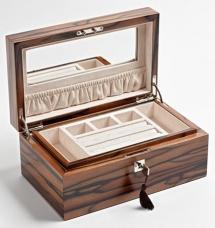 Мебель и Аксессуары для ванной из натурального дерева, Раттана и Бамбука. Wood Collection бокс для украшений деревянный Эбен Макассар