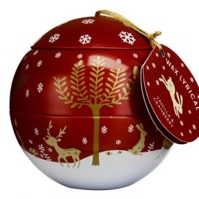 Новый Год. Cвеча-шар Зимняя ягода