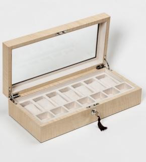 Аксессуары и Мебель для дома. Wood Collection бокс для часов и украшений деревянный Сикамор