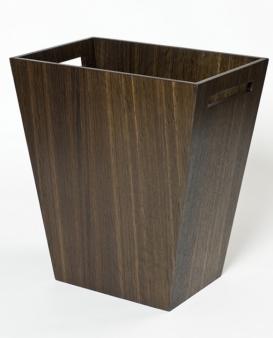 Аксессуары для кабинета Deluxe. Wood Collection ведро деревянное Дуб тёмный большое
