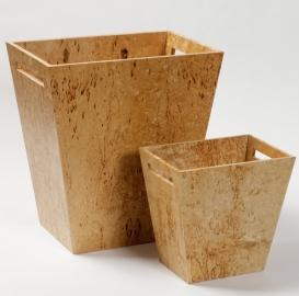 Аксессуары для кабинета Deluxe. Wood Collection ведро деревянное Карельская берёза