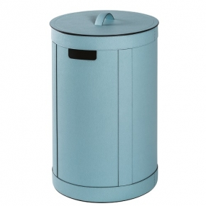 . Storage Blu кожаная корзина для белья универсальная с крышкой круглая