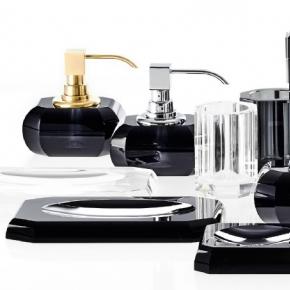 Kristall Anthrazit Decor Walther чёрные хрустальные аксессуары для ванной настольные