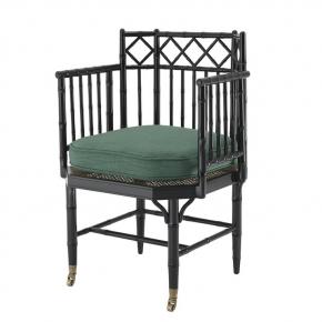 Кресла. Eichholtz Chair Xavier кресло чёрное