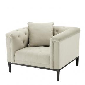 Кресла. Eichholtz Chair Cesare кресло молочного цвета