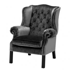 Кресла. Eichholtz Club Chair Bradley кресло серое