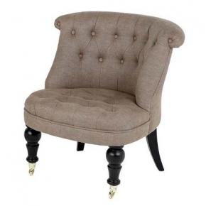 Кресла. Eichholtz Chair Camden кресло льняное песочное