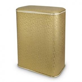 Корзины для белья. Cameya Flower корзина для белья Золотая с растительным декором