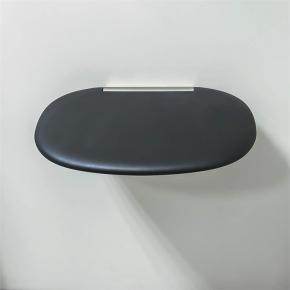 Банкетки для ванной Пуфы Интерьерные Табуреты для ванной и душа Откидные сиденья. Colombo сиденье для душа Чёрное