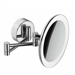 Зеркала косметические с подсветкой увеличением настенные настольные Зеркала с присосками. COLOMBO зеркало косметическое настенное с LED подсветкой и увеличением x3 B9751