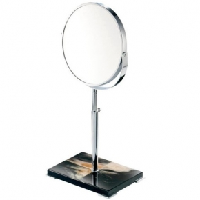 Зеркала косметические с подсветкой увеличением настенные настольные Зеркала с присосками.  Зеркало косметическое настольное Horn & lacquer Black by Arca