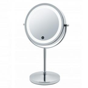 Зеркала косметические с подсветкой увеличением настенные настольные Зеркала с присосками.   JANINA Nicol косметическое зеркало двухстороннее с подсветкой LED от батареек и пятикратным увеличением настольное