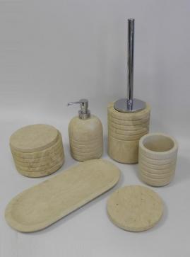 . Аксессуары для ванной настольные из натурального камня Muso