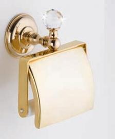Аксессуары для ванной с кристаллами Swarovski. Аксессуары для ванной с кристаллами Swarovski Rifles держатель туалетной бумаги золотой