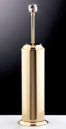 Аксессуары для ванной с кристаллами Swarovski. Аксессуары для ванной с кристаллами Swarovski Rifles ёршик для унитаза напольный золотой