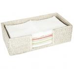 Аксессуары и Мебель для дома. Rattan плетёный лоток для мини-полотенец Ротанг Раттан натуральный Светлый