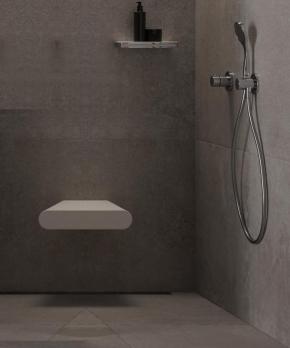 Банкетки для ванной Пуфы Интерьерные Табуреты для ванной и душа Откидные сиденья. Duschsitz сиденье для душевой кабины душа мягкое Белое