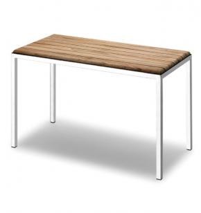 Мебель и Аксессуары для ванной из натурального дерева, Раттана и Бамбука.  Тик банкетка для ванной деревянная