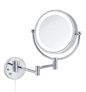 . Katja Nicol настенное косметическое двухстороннее зеркало с подсветкой LED и увеличением 1х3 и 1х7