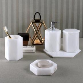 Аксессуары для ванной настольные. Alabaster 2 аксессуары для ванной Алебастровые белые