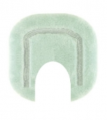 Коврики для ванной комнаты.  Коврик для ванной комнаты CLASSIC Nicol светло-зелёный люрекс золотой серебряный с вырезом