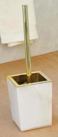 . Blanca Nicol Alabaster ёршик для унитаза напольный из натурального камня золотой декор квадратный