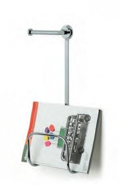 Газетницы настенные металлические. Газетница настенная с держателем для туалетной бумаги Ozi
