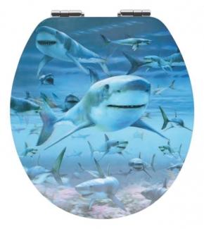 Сиденья для унитаза с крышкой. HAIE сиденье для унитаза с микролифтом крышки 3D декор Акулы