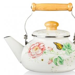 Кофеварки Чайники. Чайник 2,1 л Бабочки на лугу (эмаль)