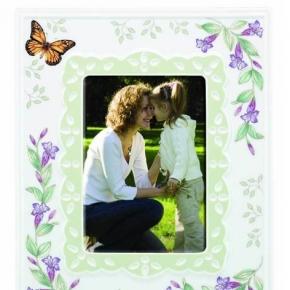. Фарфоровая рамка для фото Бабочки на лугу