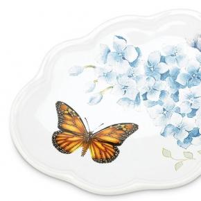 . Мыльница 15 см Бабочки на лугу (голубой)