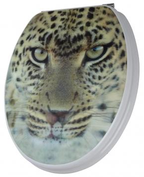 Сиденья для унитаза с крышкой. Leopard сиденье для унитаза 3D декор Леопард