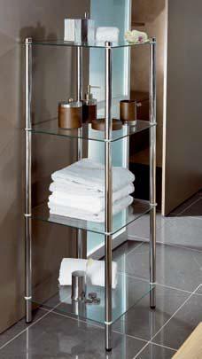 Этажерки для ванной. MAXIMO Nicol этажерка стеклянная для ванной 4 полки квадратная