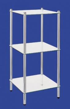Этажерки для ванной. MAXIMO Nicol этажерка стеклянная для ванной 3 полки квадратная