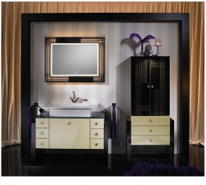 Мебель для ванной комнаты. Ardino мебель для ванной Hellelfenbein
