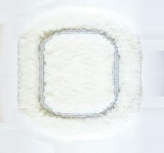 Коврики для ванной комнаты.  Коврик для ванной комнаты CLASSIC Nicol белый люрекс серебряный квадратный
