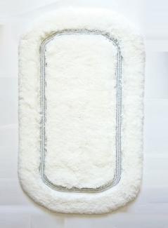 Коврики для ванной комнаты.  Коврик для ванной комнаты CLASSIC Nicol белый люрекс серебряный