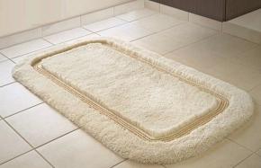Коврики для ванной на заказ из Германии индивидуального дизайна и размера.  Коврик для ванной комнаты CLASSIC Nicol бежевый с люрексом золото/серебро. Индивидуальное производство коврик на заказ