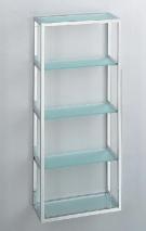 Этажерки для ванной. ET8 Настенная полка для ванной этажерка стеклянная 5 полок