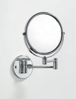 Зеркало для ванной косметическое Windsor настенное хром двухстороннее с увеличением 1х1 и 1х2