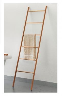 Полки для душа Сетки Полки для ванной стеклянные Полки для полотенец. Деревянный полотенцедержатель лестница светлый ENHOLZ