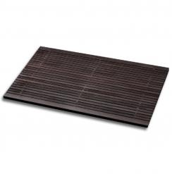 Деревянные коврики и решётки для душа и ванной комнаты. Деревянная решётка для ванной и душа тёмная SPALL