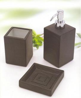 РАСПРОДАЖА. Аксессуары для ванной настольные Skin Wenge керамические