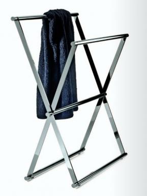 Халаты Одежда для бани и сауны Deluxe. Стойка напольная полотенцедержатель хром Decor Walther складная